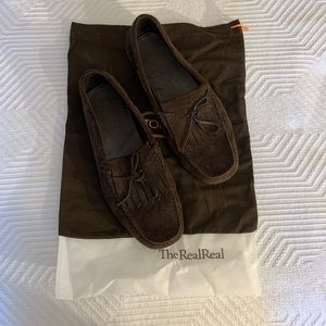 Tod's Men's Brown Suede Loafers